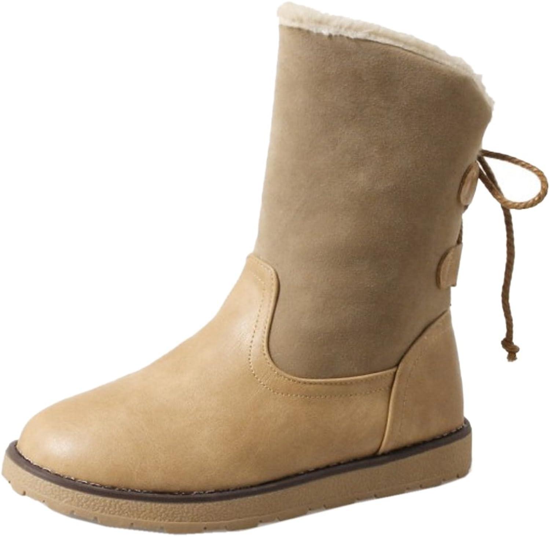 AicciAizzi Women Lace Up Boots Flats