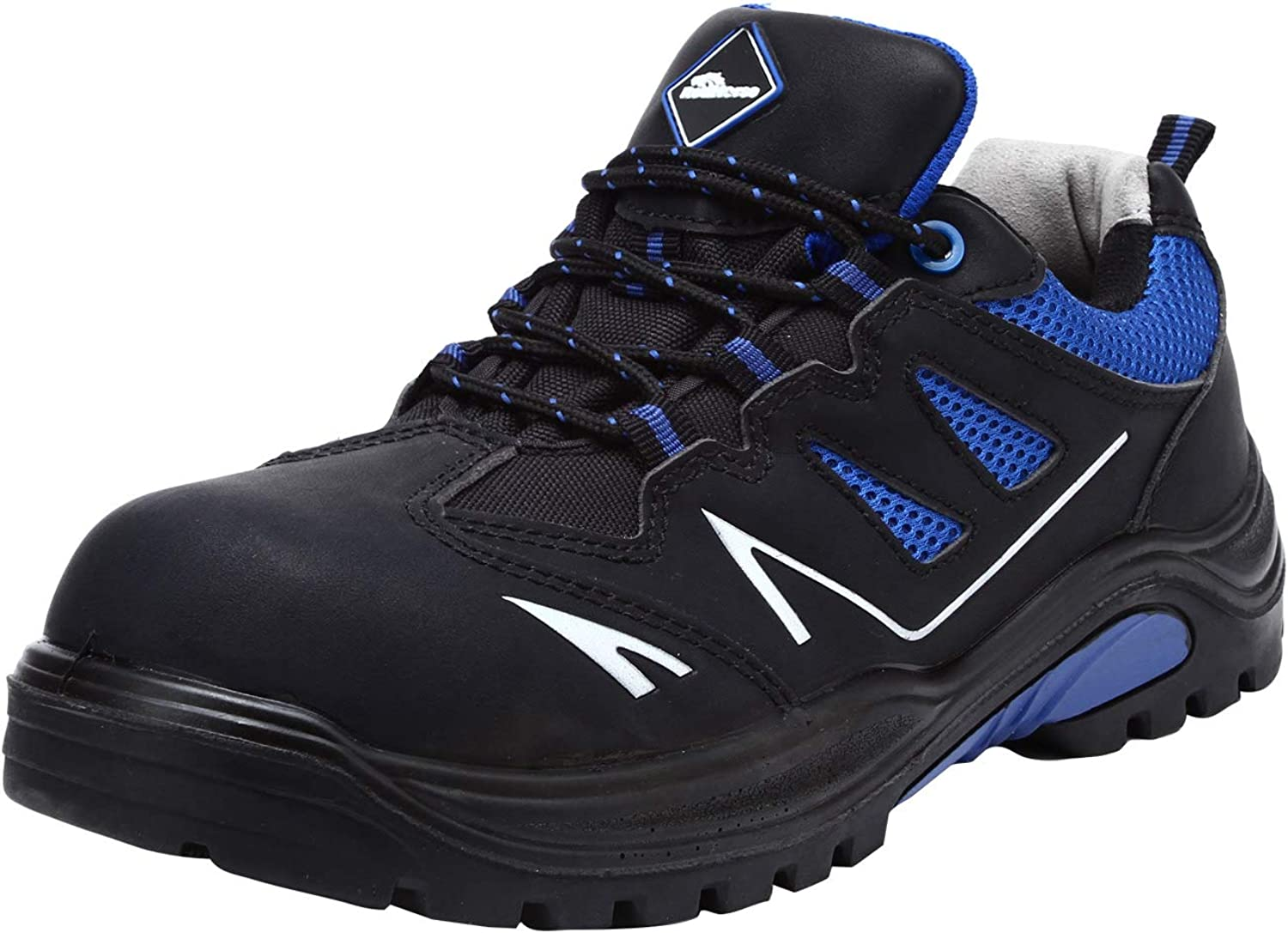 Mens Composite Toe Safety shoes, RH-760 EH SRC Breathable Lightweight Work Trainers Slip Resistant