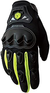 Kecontsy Motorcycle Breathable Mesh Touch Function Motocross Off-Road Racing Gloves