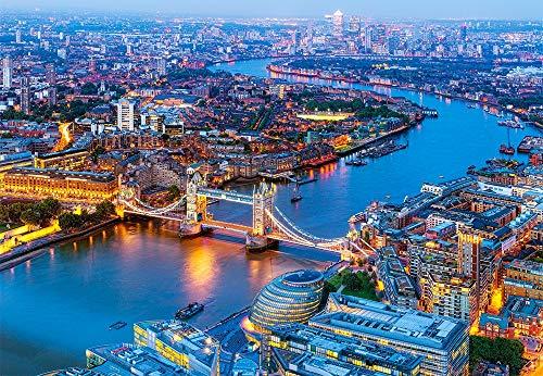 Castorland-Aerial View of London,Puzzle 1000 Teile Puzle, Color carbón C-104291-2