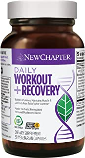 New Chapter Pre Workout, During Workout & Post Workout Supplement - Daily Workout + Recovery for Everyday Fitness - 30 Veg...