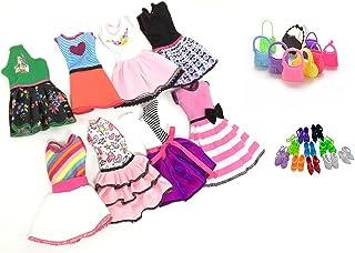 comprar comparacion Ropa Para 29cm Muñecas, Lance Home 8 Conjuntos Vestidos+10 Pares de Zapatos+ 10pcs Bolsos Para 29cm Muñecas Accesorios Reg...
