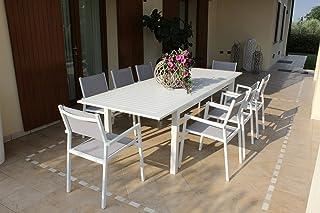 Milani Home s.r.l.s Salotto da Esterno per Portico e Giardino con Cuscini in Metallo e Wicker Intrecciato Rattan Sintetico D.104 x 58 x 84//P.57,5 x 58 x 84//T.71 x 41 x 40