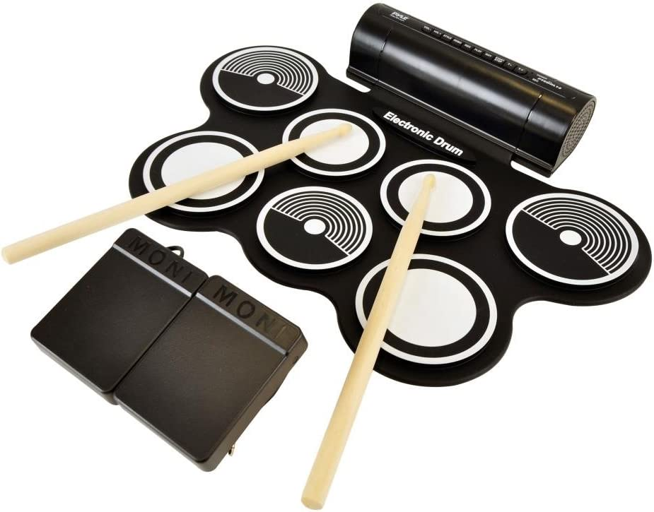 Pyle Electronic Roll Fees free!! Up MIDI Drum W Electric Kit B Pads Arlington Mall 7