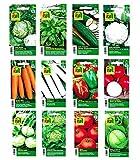 Gemüsesamen Saatgut für 12 Sorten - Set