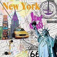 DSJHK パズルアメリカの自由の女神パズルジグソー1000ピース木製ストリートグラフィティスタイルパズルチャイルドティーンは芸術的な思考のジグソーおもちゃを開きます