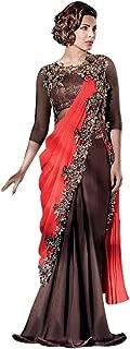 Indian Bollywood Priyanka Gown Saree Lycra Fabric for women dress sari salwar Hit 11