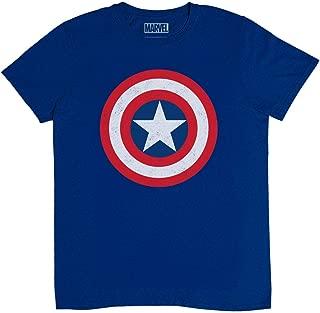 Marvel Captain America Shield Logo Avengers Youth Kids T-Shirt