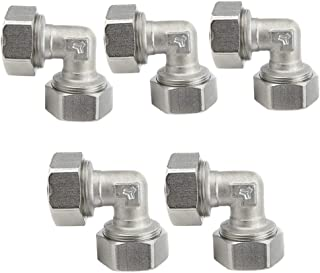 Maxline M8067 Elbow Fitting for 3/4-Inch Tubing (5-(Pack))