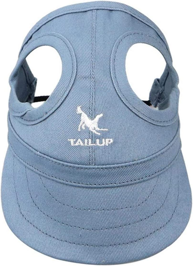 Pet Baseball Cap Dogs Sport Hat Visor Cap with Ear Holes and Chin Strap Pet Outdoor Leisure Sunblock Protection Hat S Black