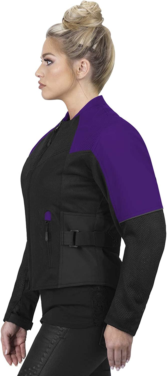CE Armor with Multi Pocket Waterproof Viking Cycle Freedom Textile Motorcycle Jacket for Women
