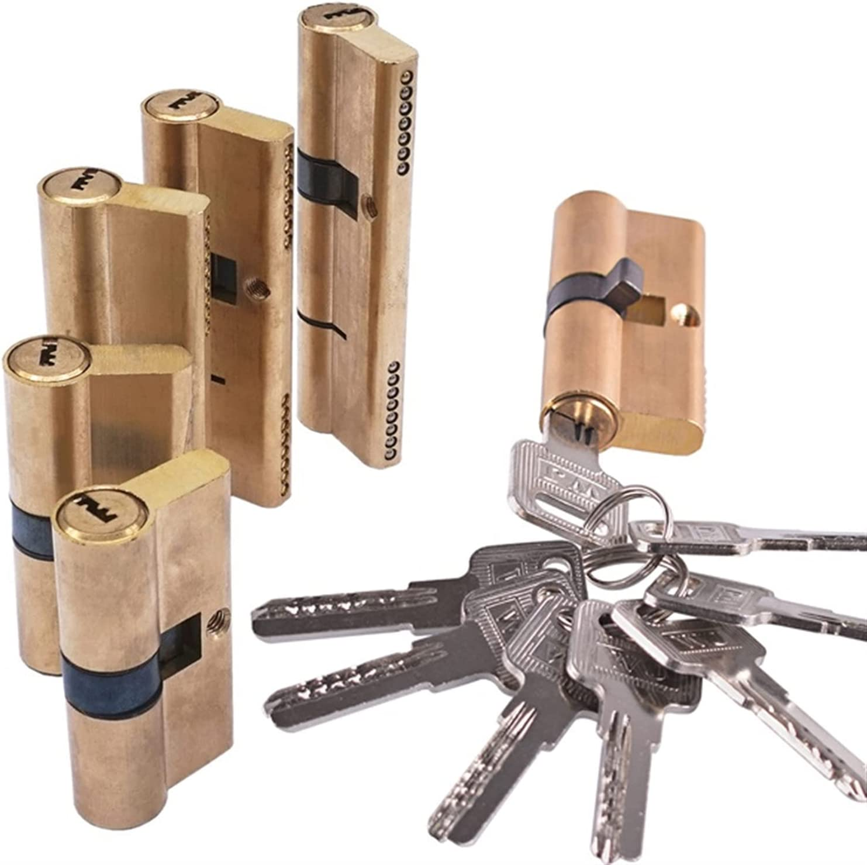 xisong Door Barrel Lock Brass Door Lock Cylinder Lengthened 65 7