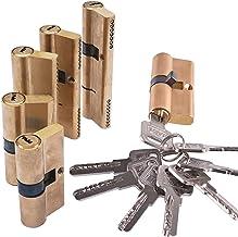 Euro cilinderslot Messing deurslotcilinder verlengde 65 70 80 90mm bevooroordeeld slotkern anti-diefstal Vatslot (Color : ...