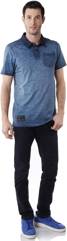 ZIMEGO Men's Slim Fit Short Sleeve Vintage Casual Color Dyed Pocket Polo Shirts