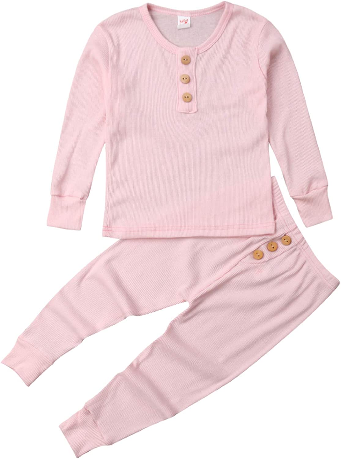 SEAL limited product Unisex Fixed price for sale Toddler Baby Snug-fit Pajamas Top Piece Set B Pants 2 and