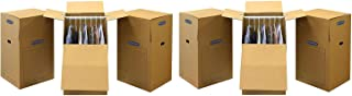 Bankers Box SmoothMove Wardrobe Moving Boxes, Tall, 24 x 40 Inches (2 X Pack of 3)