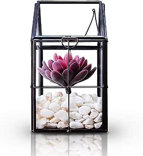 Haocent Geometric Glass Succulent Terrarium Indoor DIY Micro-Landscape Metal Framework Container Light Bottle