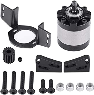 RC Car Gearbox & Motor Mount, RC Crawler Gearbox Transmission Case with Gear Motor Mount for D90 1/10 Scale RC Crawler Car