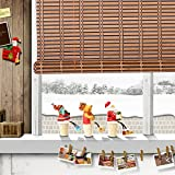 THY COLLECTIBLES Natural Bamboo Roll Up Window Blind Roman Shade Sun Shade WB-A016 (W24 X H72)