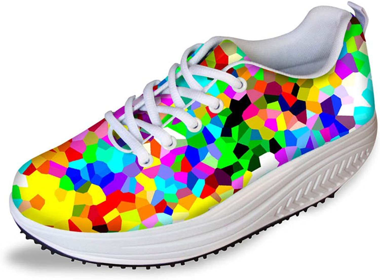 HUGSIDEA Fashion Women's Shape Ups Sneakers Fitness Walking shoes