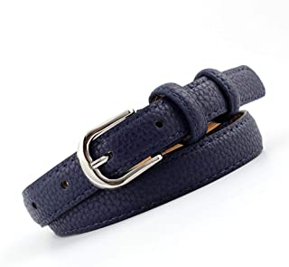 SGJFZD Women's Fashionable Belts Students' Cuts Trendy Belts Women's Belts (Color : Navy, Size : 105 * 1.8cm)