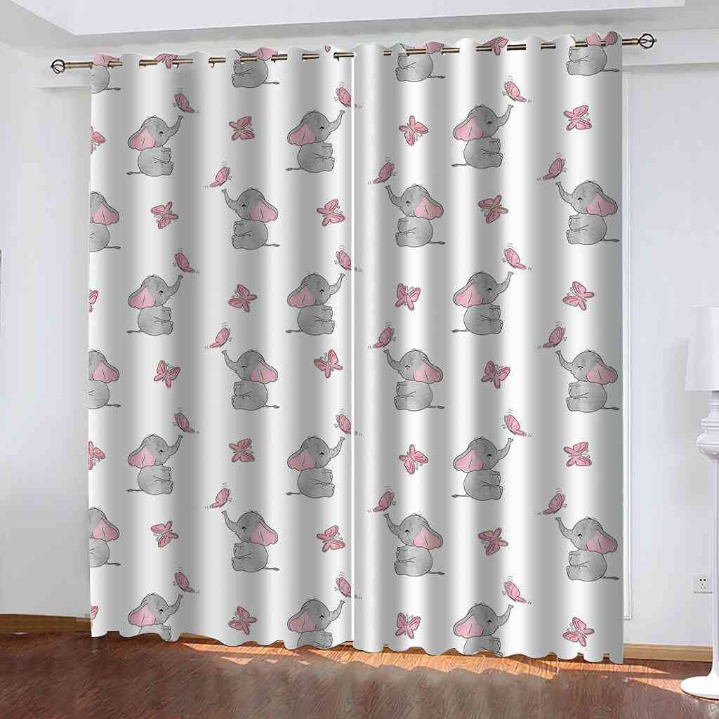 CUYQNS 3D Blackout Curtains W Ranking TOP12 52 x L Cartoon 95.3 gr little Inch Super special price