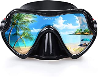 EXP VISION Snorkel Diving Mask, Professional Snorkeling Mask Gear, Ultra Clear Lens with Wide View Tempered Glass Goggles,...