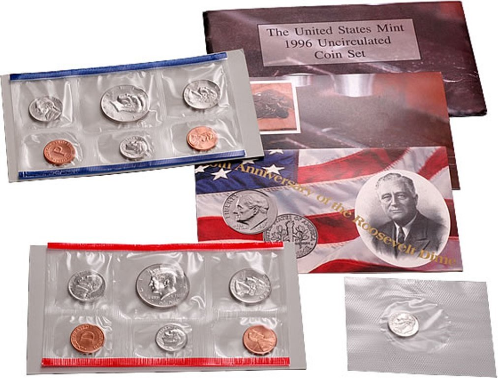 1996 Max 80% OFF - U.S. Mint Set 11 coin Point set.With 1 year warranty West Special Dime