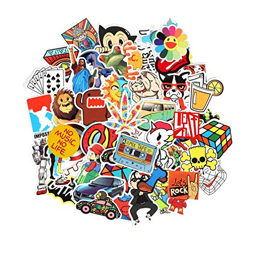 Fngeen 150pcs Random Laptop Stickers for Teens Adults Pack Cool Vinyl Sticker Bomb Variety Decal for - http://coolthings.us