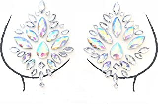Neva Nude Stardust Crystal Nipztix Pasties Nipple Covers
