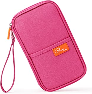 Mossio Travel Wallet Passport Holder Journey Case Document Organizer Ticket Holder Pink