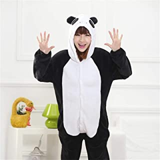 Onesie Adult Men Women Sleepwear Pajama Soft Fancy Pijima Overall Nightwear Onepiece CQQO (Color : Panda, Size : S)