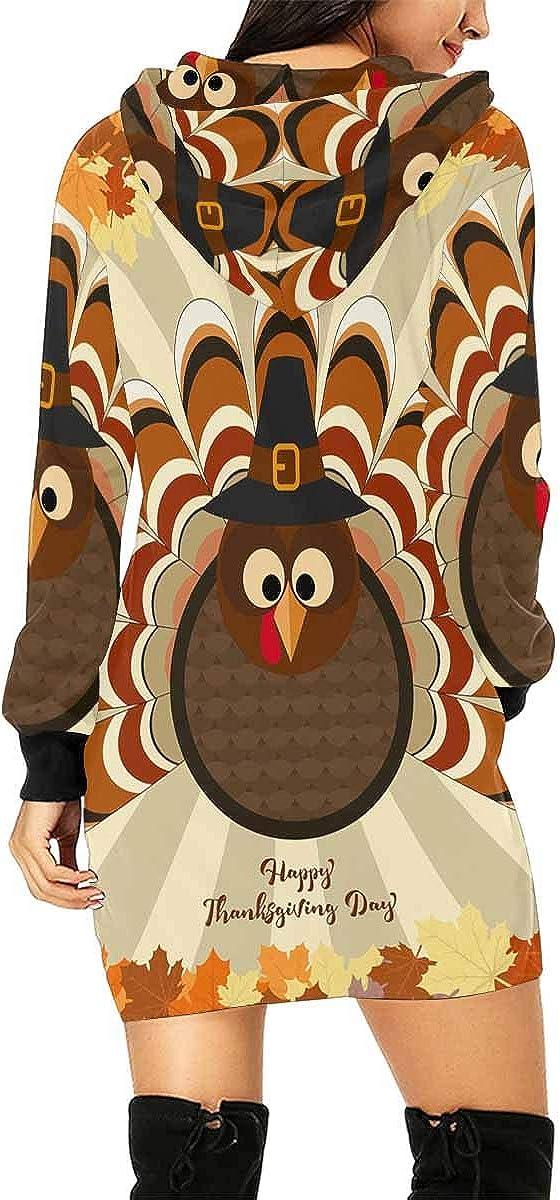 InterestPrint Women's Hoodie Dress Tunic Long Tops Cute Sloths Long Sleeve Pullover Sweatshirt