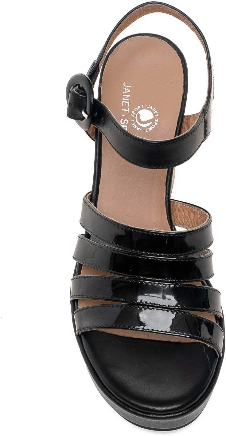 Janet Sport 43875 High heeled sandals Women Black