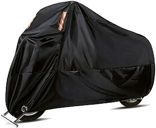 Carrfan Black Motorcycle Cover Waterproof Heavy Duty Outside Storage Snowproof Rainproof