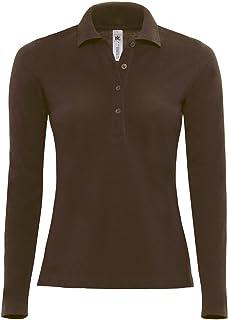 B&C Women's Safran Pure Long Sleeve Polo Shirt