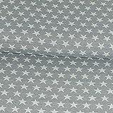 Gobelinstoff Sterne grau Canvasstoff Doubleface - Preis