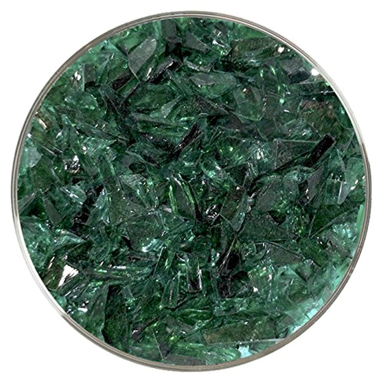 Teal Green Transparent Coarse Frit - 96COE - 4oz - Made from System 96 Glass