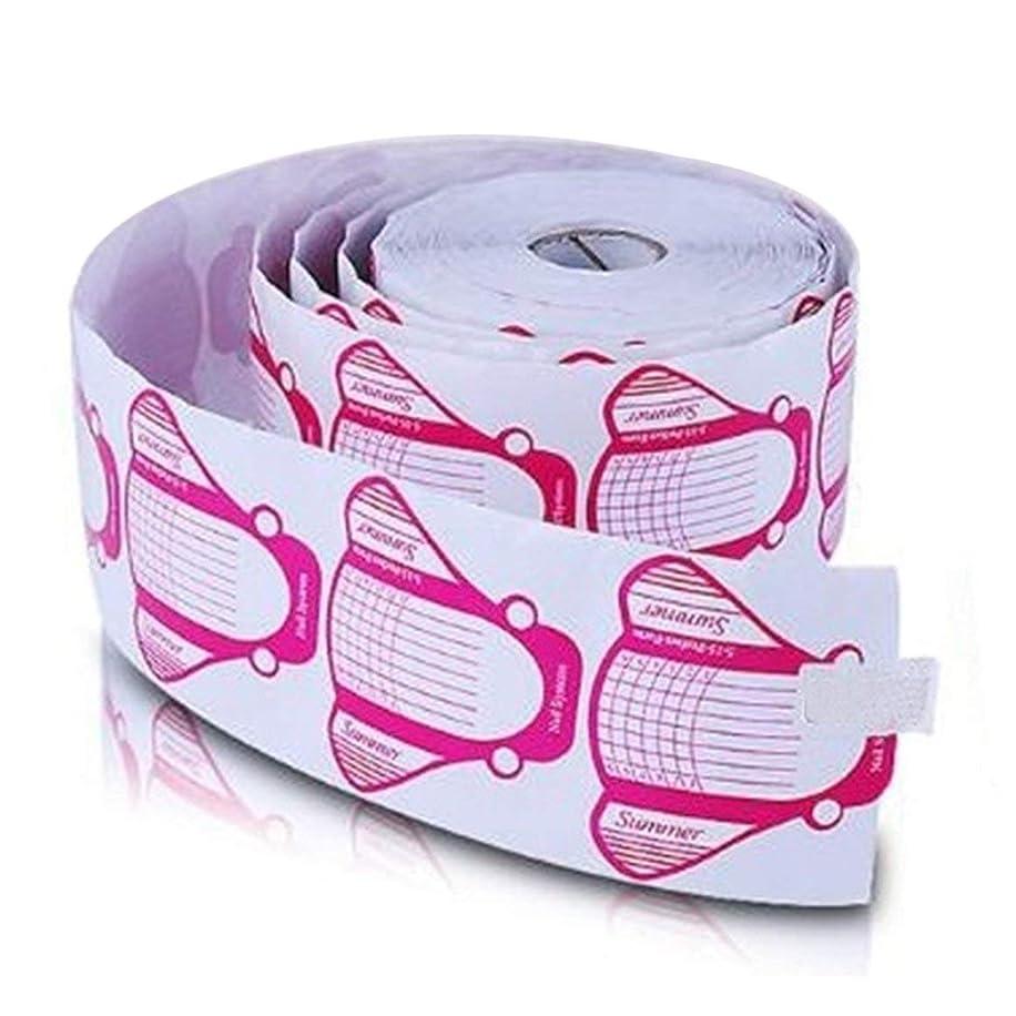 冷えるクロール理容室ネイルフォーム ネイル アート 長さだし用ネイルフォーム プロ用 500枚入り (ピンク)