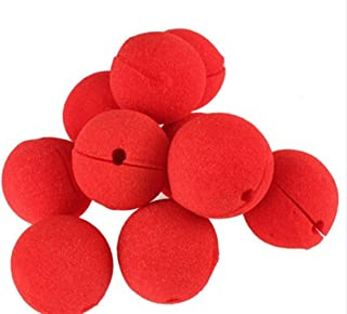heandi 12pcs Foam Clown Nose Circus Party Halloween Costume Red Red, 12PCS