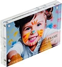 Combination of Life Acrylic Photo Frame 3.5x5 inches Magnet Photo Frame 10 + 10MM Thickness Clear