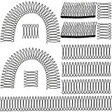 Wiaxin 12 Pieces U Shape Hair Finishing Fixer Combs Invisible Hair Holder U-shape Hair Fixer Flexible Clip-shaped Comb Set for Women and Girls Hairstyle Hair Accessories, 5 Sizes