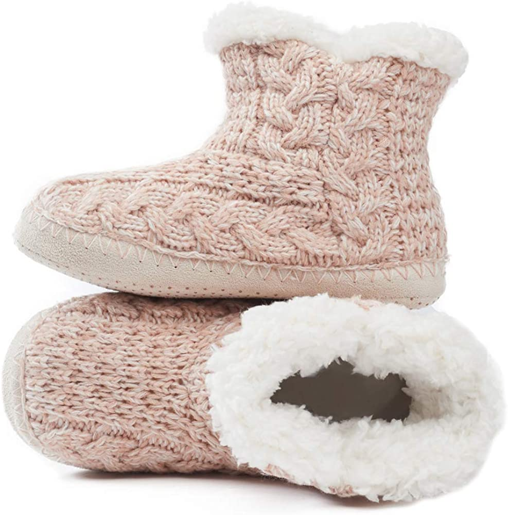 maamgic Womens Fuzzy Slipper Bootie Cozy Slipper Socks with Grippers for Home Bedroom Girls