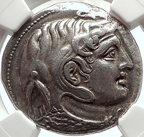 1000 GR Alexander the Great on PTOLEMY I Soter AR Tetradr Tetradrachm XF NGC