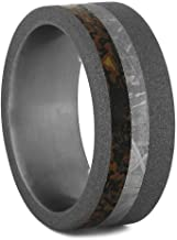 Jewelry By Johan Men's Wedding Band with Meteorite and Dinosaur Bone, Size 7.25-RS11124