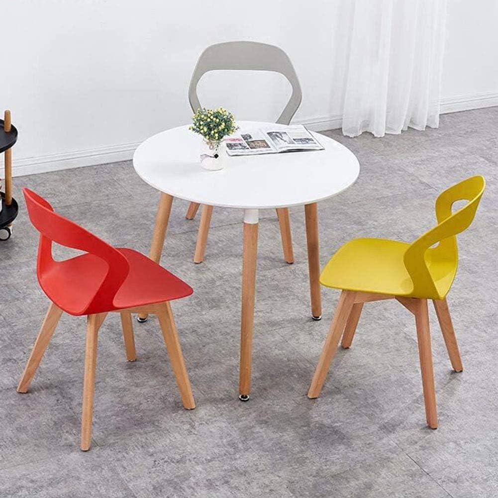 Chaise De Salle à Manger Design Moderne Siège en Plastique Pieds en Bois Chaises De Table Nordiques pour Salon/Bureau/Salon 42x54x79 Cm(Color:Rouge) Rouge