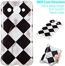 for Huawei Y3 2018 Case, Soft Slim Protective Case Shockproof Anti-Scratch Flexible TPU Cover Protective Phone Case Back Cover for Huawei Y3 2018 (Black White)