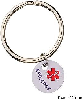 Epilepsy Medical Alert Keyring