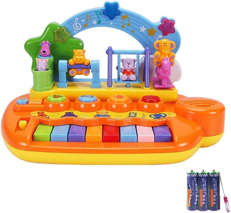 LIUFS-Tastatur Kinder-Tastatur-Musik-Trommel-frühes Bildungs-pdagogisches Spielzeug-Klavier (Farbe   Gelb-Battery style)