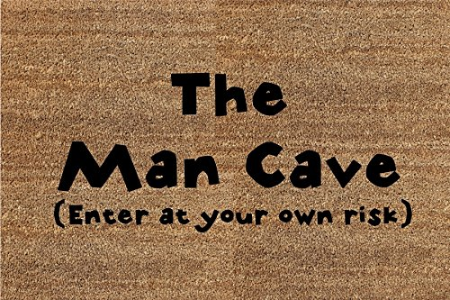 Classic Coir Funny Mat - The Man Cave (Enter at Your own...